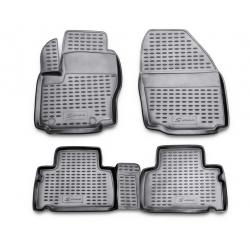 Guminiai kilimėliai FORD S-MAX 2006-2015 (Pilkos spalvos, Pakeltais kraštais)