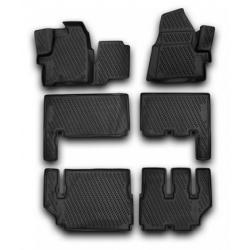 Guminiai kilimėliai FORD Tourneo Custom (9 vietų) nuo 2013 (pakeltais kraštais)