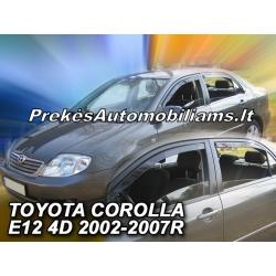 Vėjo deflektoriai TOYOTA COROLLA E12 Sedan 2002-2007 (Priekinėms ir galinėms durims)