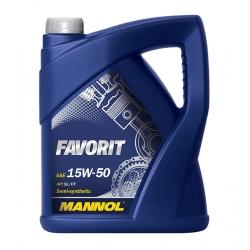 Tepalas MANNOL FAVORIT 15W-50, 5L