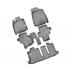 Guminiai kilimėliai NISSAN Pathfinder nuo 2014 (Pilkos spalvos, Pakeltais kraštais)