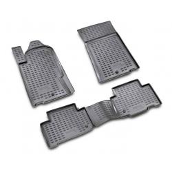 Guminiai kilimėliai SSANGYONG Rexton 2006-2012 (Pilkos spalvos, Pakeltais kraštais)