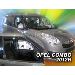 Vėjo deflektoriai OPEL COMBO D 2011→ (Priekinėms durims)