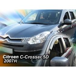 Vėjo deflektoriai CITROEN C-CROSSER 5 durų 2007-2012 (Priekinėms durims)