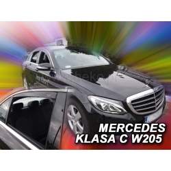 Vėjo deflektoriai MERCEDES BENZ C klasė W205 Sedan 4 durų 2014→ (Priekinėms ir galinėms durims)