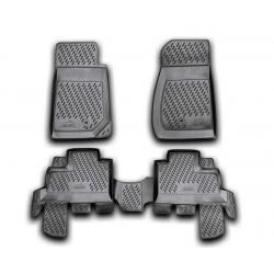 Guminiai kilimėliai JEEP Wrangler (4 durų) nuo 2007 (pakeltais kraštais)