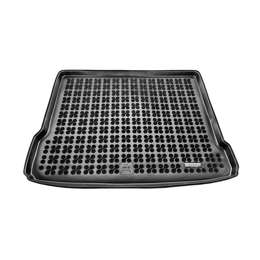 Guminis bagažinės kilimėlis AUDI Q3 su plonu atsarginiu ratu 2011-2018