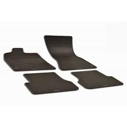 Guminiai kilimėliai AUDI A6 C7 2011-2018 (su originaliais tvirtinimais, juodos spalvos)
