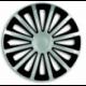 Ratų gaubtai R15 sidabriniai-juodi TREND SILVER-BLACK
