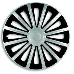 Ratų gaubtai R16 sidabriniai-juodi TREND SILVER-BLACK