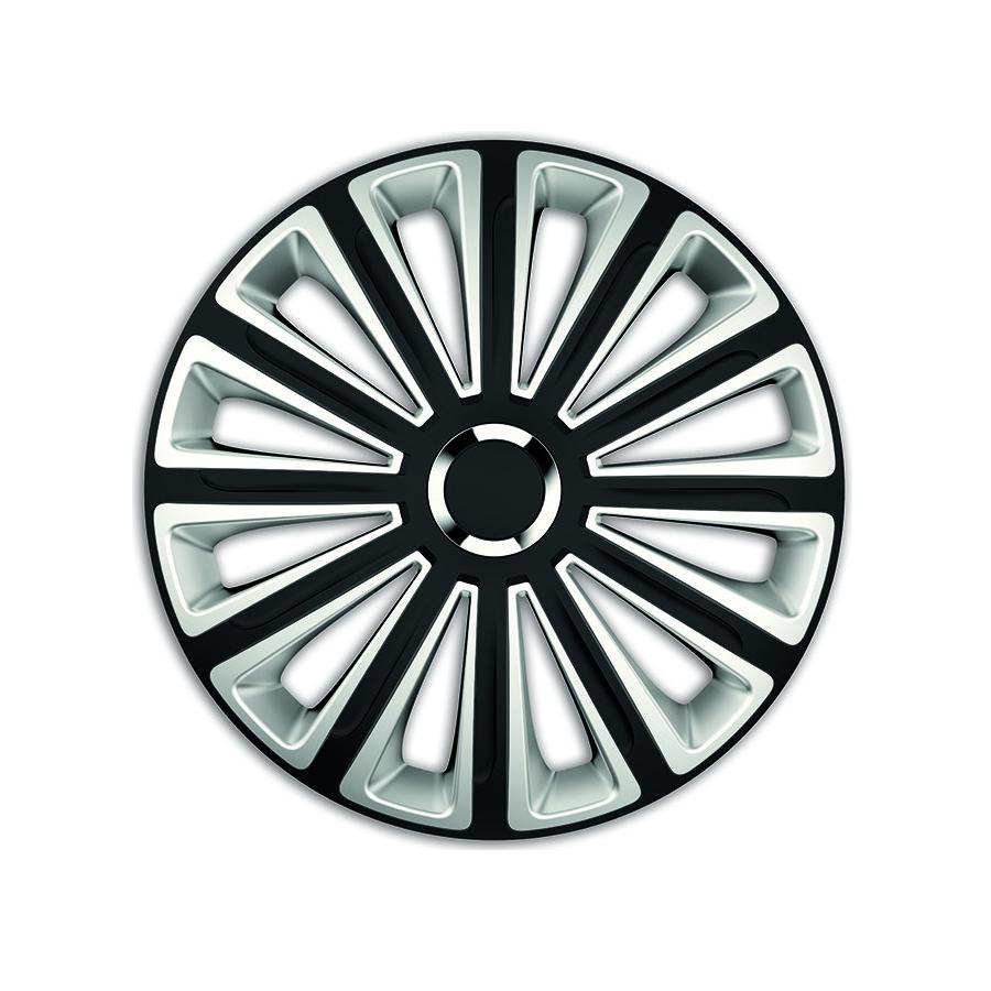 Ratų gaubtai R15 juodi-sidabriniai TREND BLACK-SILVER