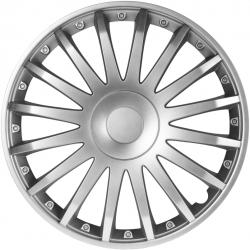 Ratų gaubtai R15 sidabriniai CRYSTAL