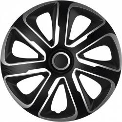 Ratų gaubtai R15 ARGO LIVORNO Carbon Silver-Black