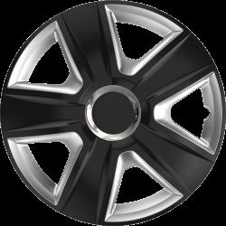 Ratų gaubtai R16 juodi-sidabriniai ESPRIT RC Black&Silver