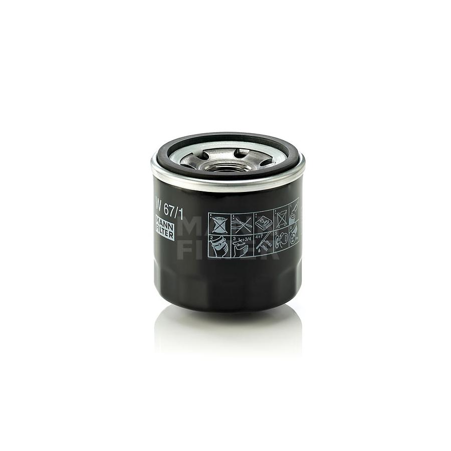 Tepalo filtras MANN-FILTER W 67/1