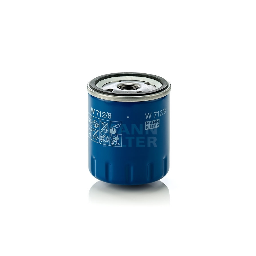 Tepalo filtras MANN-FILTER W 712/8