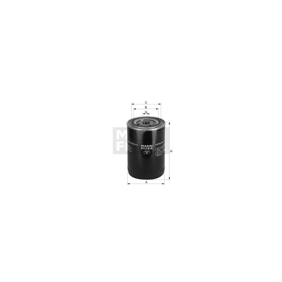 Tepalo filtras MANN-FILTER W 920/11