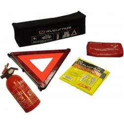 Automobilio saugos rinkinys (ES standartas) su 1kg gesintuvu