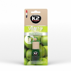Pakabinamas oro gaiviklis K2 VENTO GREEN APPLE, 8 ml