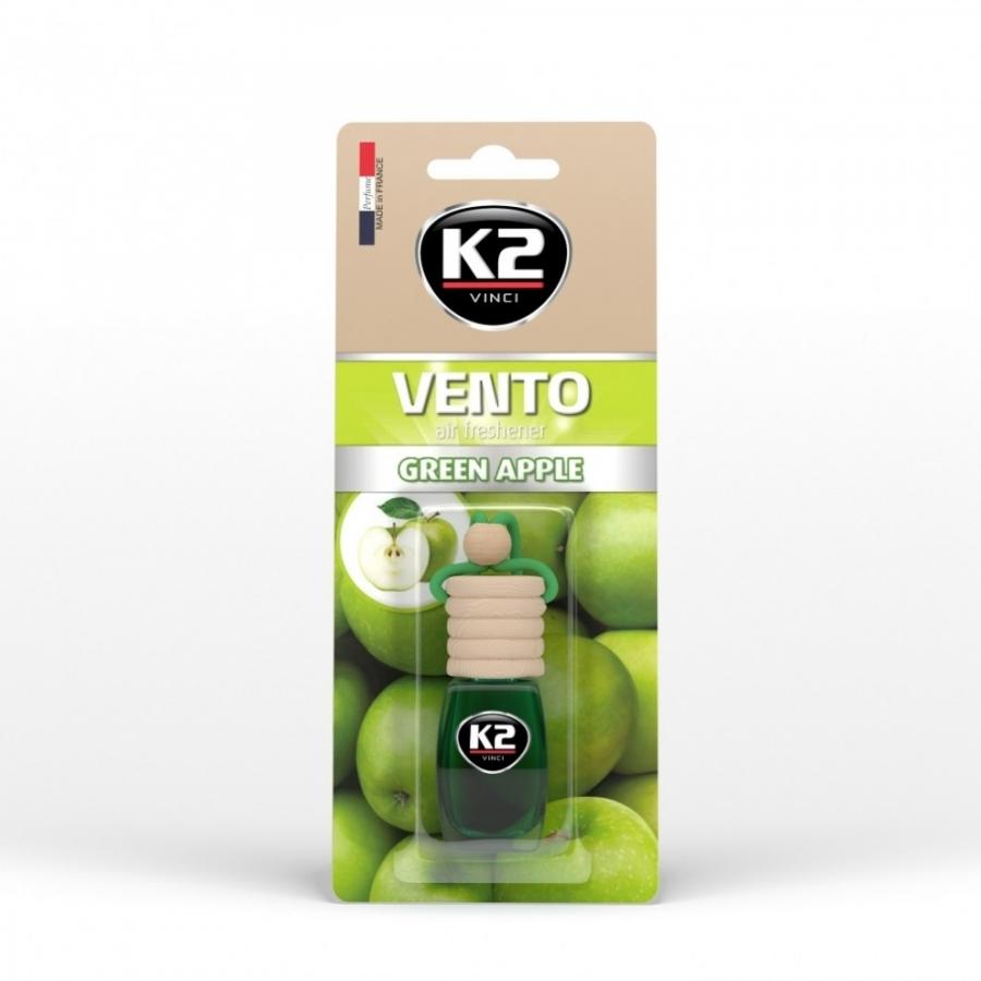 Pakabinamas oro gaiviklis K2 VENTO GREEN APPLE, 8 ml