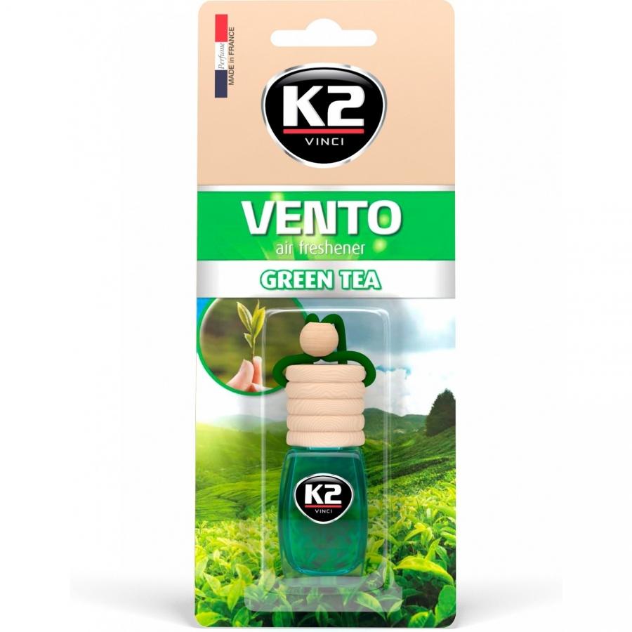 Pakabinamas oro gaiviklis K2 VENTO GREEN TEA, 8 ml