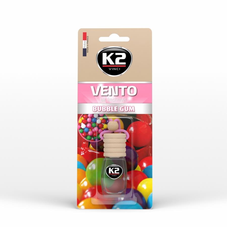 Pakabinamas oro gaiviklis K2 VENTO BUBBLE GUM, 8 ml