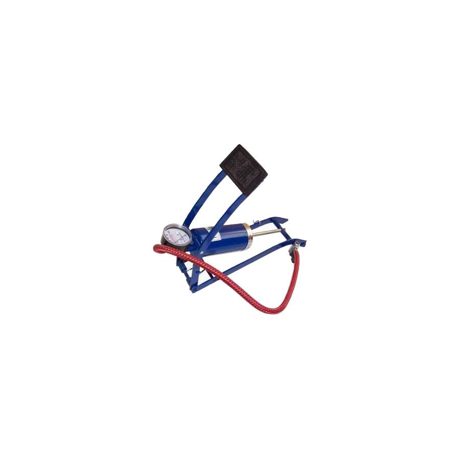 Kojinė pompa su manometru, vieno cilindro