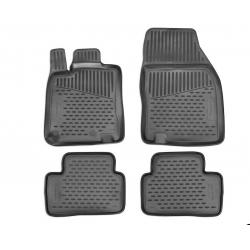 Guminiai kilimėliai RENAULT Kadjar 2015→ (Pilkos spalvos, pakeltais kraštais)