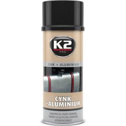 Antikoroziniai dažai K2 CYNK+ALUMINIUM 400ml (tinka duslintuvams)