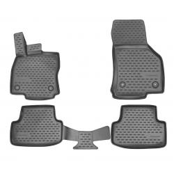Guminiai kilimėliai AUDI A3 Hatchback 2012-2016 (Pilkos spalvos, Pakeltais kraštais)
