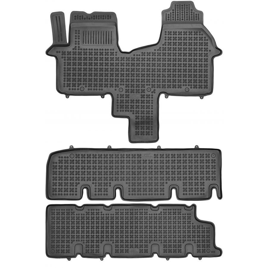 Guminiai kilimėliai FIAT Talento nuo 2016 (8 vietų, trys eilės be ortakio, Paaukštintais kraštais)