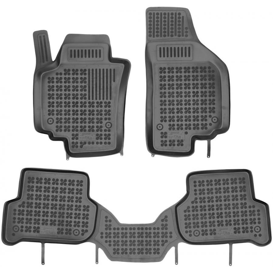 Guminiai kilimėliai SEAT Altea XL 2006-2015 (Paaukštintais kraštais, Be Bluetooth modulio po sėdyne)