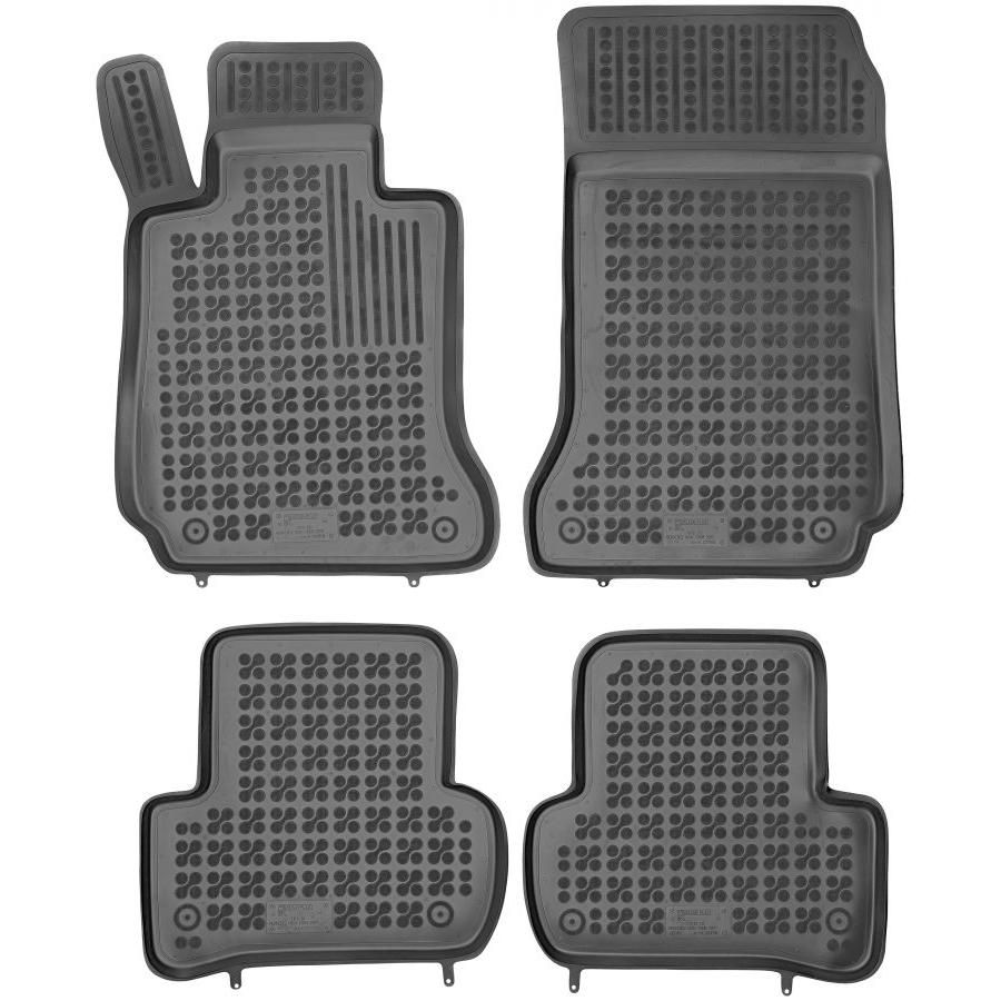 Guminiai kilimėliai MERCEDES BENZ W204 C-Klasė 2007-2014 (Paaukštintais kraštais)