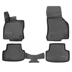 Guminiai kilimėliai SEAT Leon (Typ 5F) 2012→ (Pilkos spalvos, Pakeltais kraštais)