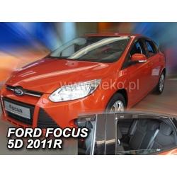Vėjo deflektoriai FORD FOCUS III Hatchback 2011-2018 (Priekinėms ir galinėms durims)