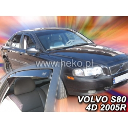 Vėjo deflektoriai VOLVO S80 4 durų 1998-2006 (Priekinėms ir galinėms durims)