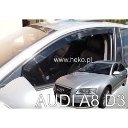 Vėjo deflektoriai AUDI A8 (D3) 4 durų 2003-2010 (Priekinėms durims)