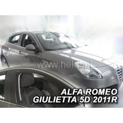 Vėjo deflektoriai ALFA ROMEO GIULIETTA 5 durų 2012→ (Priekinėms durims)