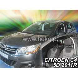 Vėjo deflektoriai CITROEN C4 II 5 durų 2010→ (Priekinėms durims)