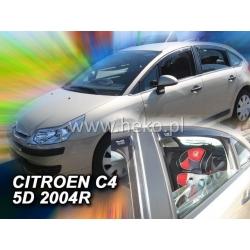 Vėjo deflektoriai CITROEN C4 5 durų 2004-2010 (Priekinėms ir galinėms durims)