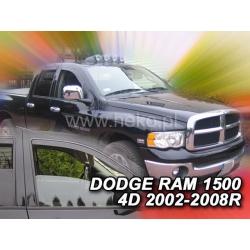 Vėjo deflektoriai DODGE RAM 1500 4 durų 2002-2008 (Priekinėms durims)