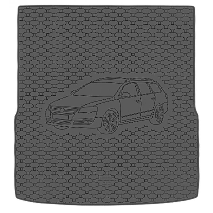 Guminis bagažinės kilimėlis VOLKSWAGEN Passat B7 Variant 2010-2014 (Standartiniais kraštais)