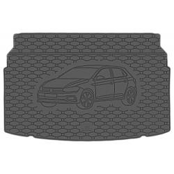 Guminis bagažinės kilimėlis VOLKSWAGEN Polo VI Hatchback 2017→ (Standartiniais kraštais)
