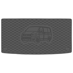 Guminis bagažinės kilimėlis VOLKSWAGEN Transporter T6 (L1) 2015→ (Standartiniais kraštais)