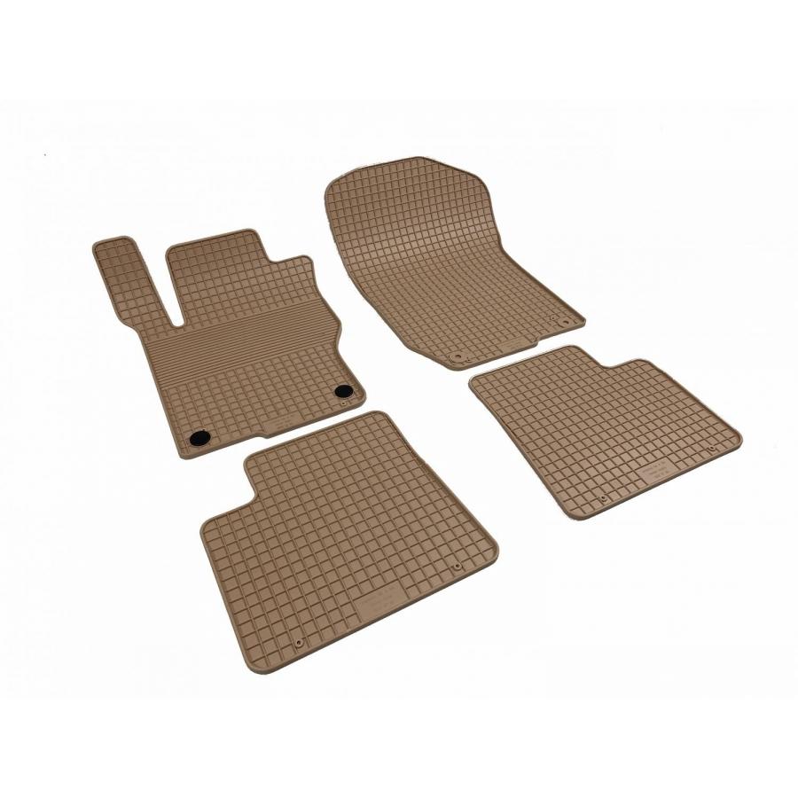 Guminiai kilimėliai MERCEDES BENZ GLE-Klasė (W166) 2011-2019 (Su originaliais tvirtinimais, Smėlinės spalvos)